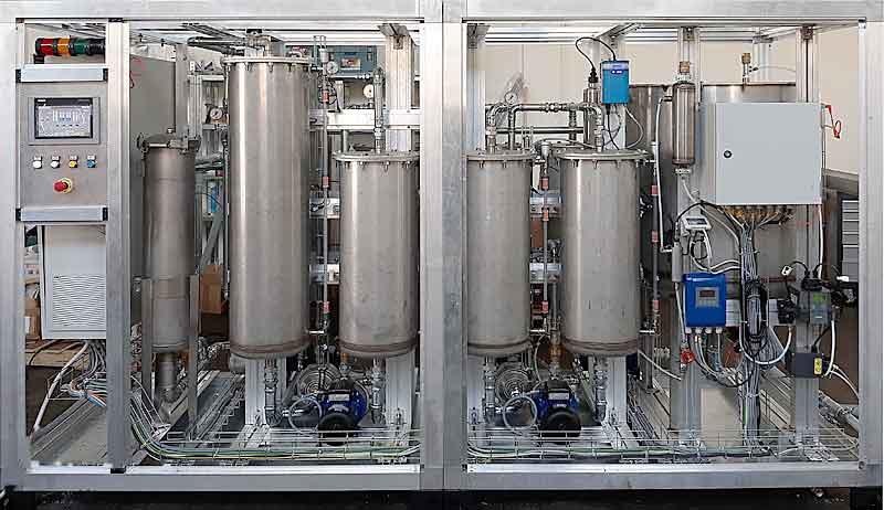 Impianto Hindra trattamento acque reflue